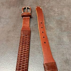 FootJoy Brown Leather Woven Belt 36
